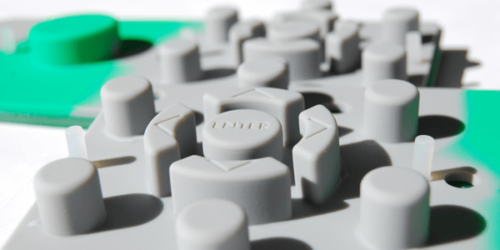 Multicolored Rubber Keypad