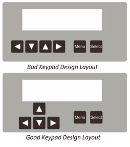Example of a Good and Bad Keypad Layout